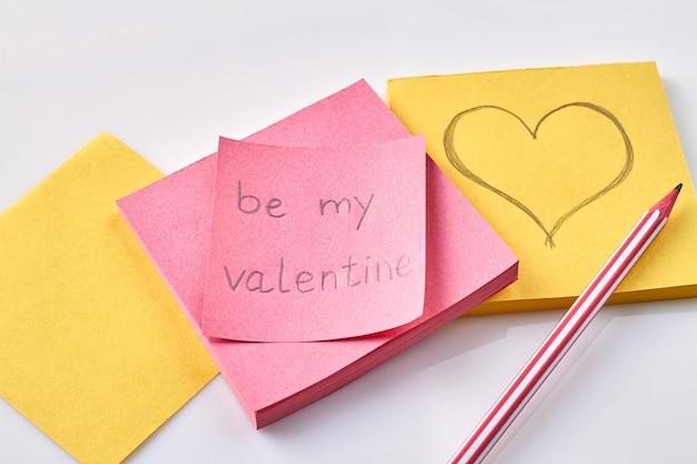 Soyez ma carte de vœux pour la saint-valentin.