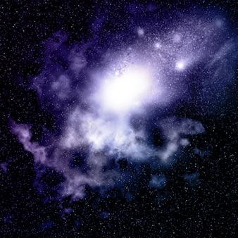 Space background avec nébuleuse et amas d'étoiles