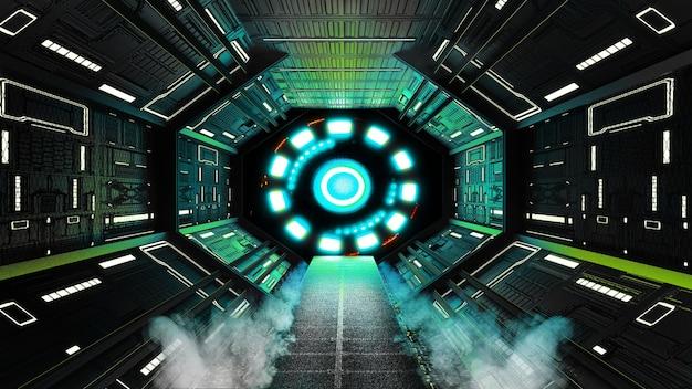 Spaceship interior, style de science-fiction.3 rendu