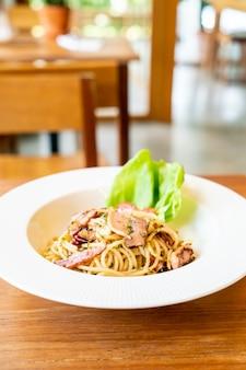 Spaghetti à l'ail et au piment bacon