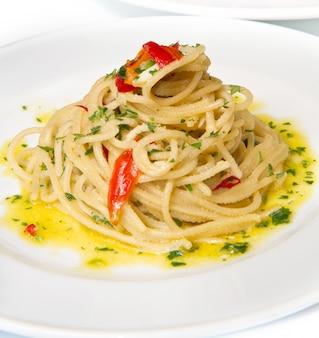 Spaghetti à l'ail, l'huile et le piment