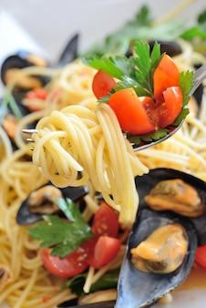 Spaghetti aux moules de récif