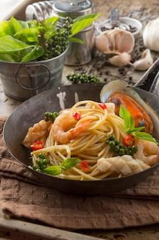 Spaghetti aux moules