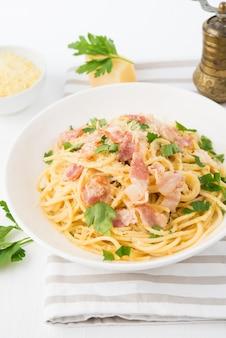 Spaghetti carbonara au bacon