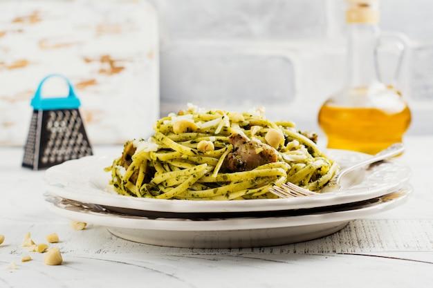 Spaghetti à la sauce pesto