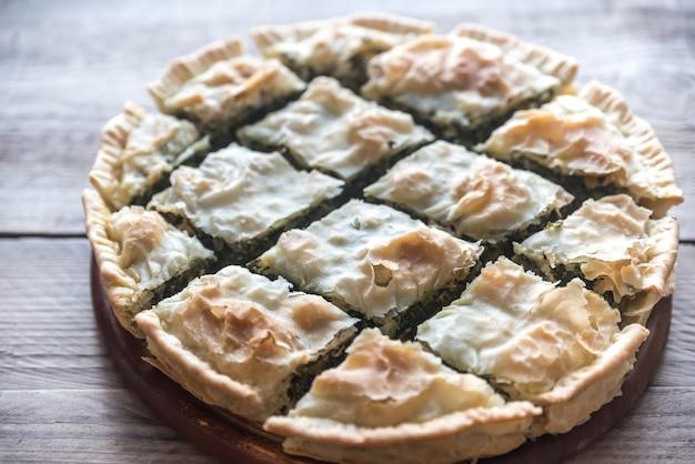 Spanakopita - tarte aux épinards grecque