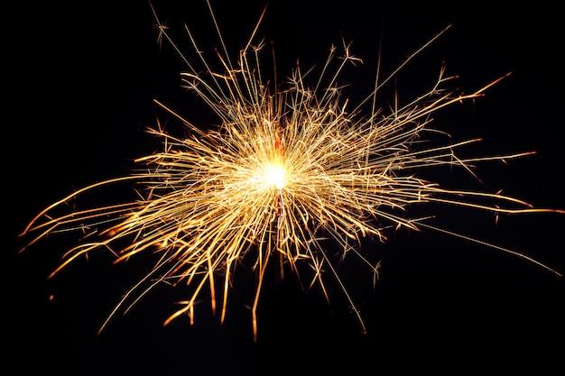 Sparkler de noël brûlant