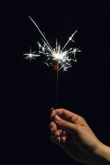 Sparkler à portée de main à noël