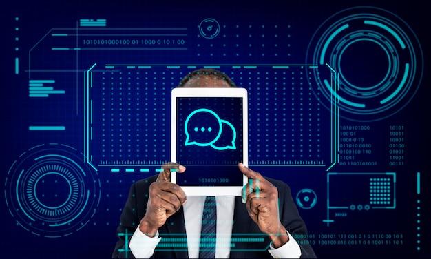 Speech bubble conversation talk message graphique