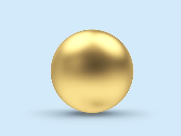 Sphère ou boule dorée