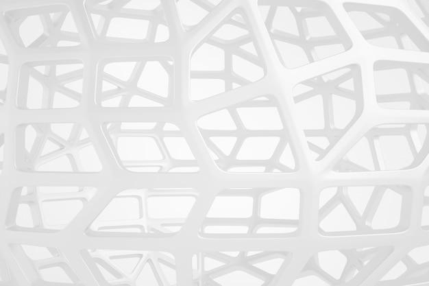 Sphère de fond abstrait en acier mat blanc