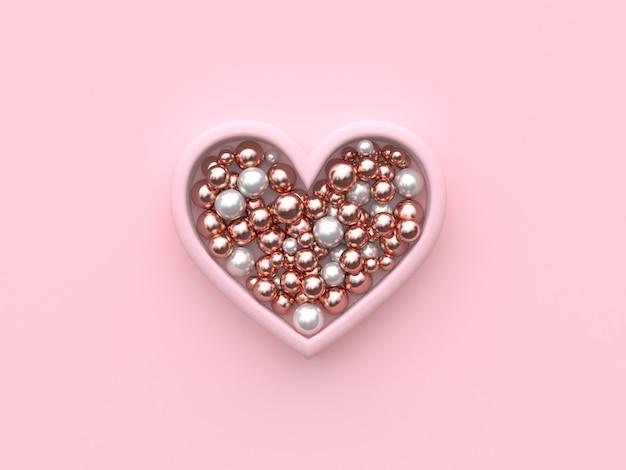 Sphère métallique en forme de coeur