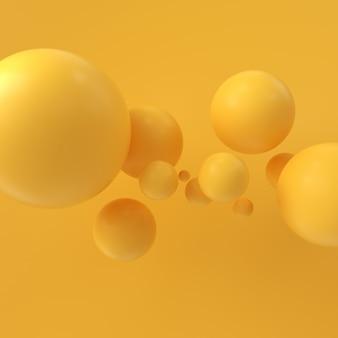 Sphère de rendu 3d, abstrait 3d