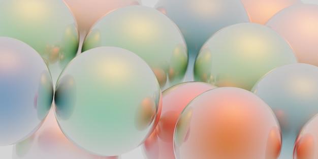 Sphères colorées réfléchissantes illustration 3d