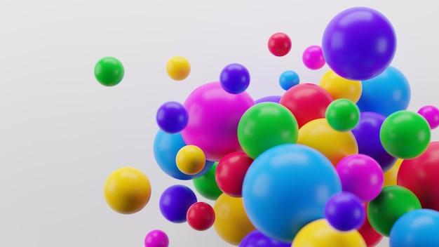 Sphères Colorées De Rendu 3d Photo Premium