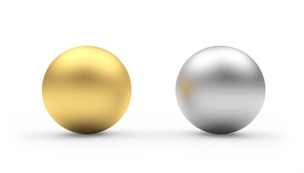 Sphères d'or et d'argent