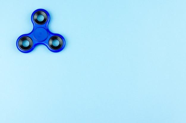 Spinner de couleur bleue
