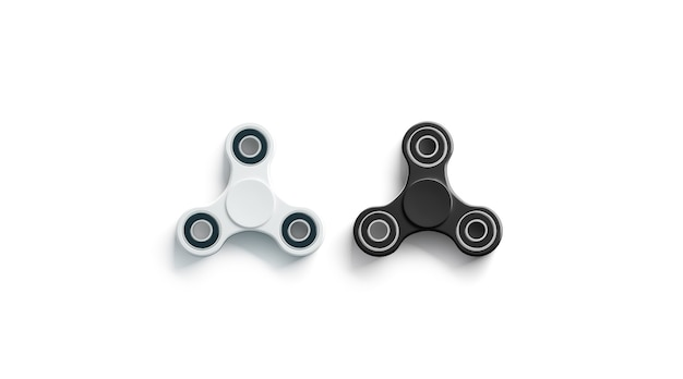Spinner fidget noir et blanc vierge, vue de dessus