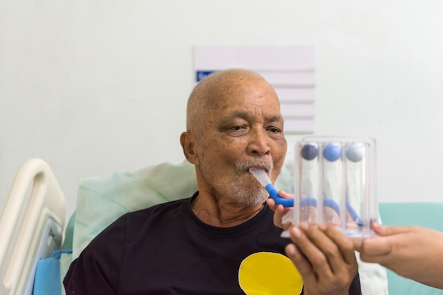 Spiromètre d'incitation à l'usage des patients à l'hôpital