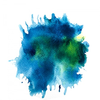 Splash aquarelle coloré.