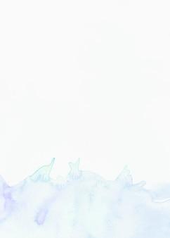 Splash aquarelle sur fond blanc