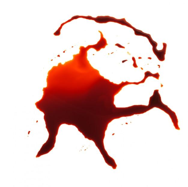 Splash de peinture rouge isolé