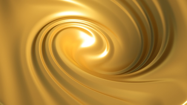 Splash en spirale caramel. illustration 3d, rendu 3d.