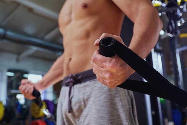 Sport concept exercice de gym.
