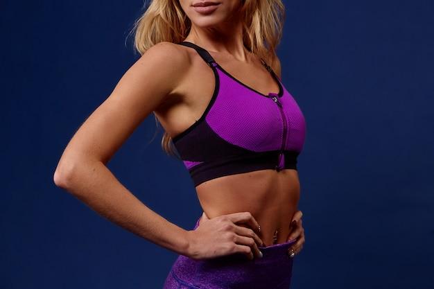Sport. corps sport femme fort et beau