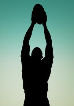 Sport d'équipe découpé compétences contour silhouette