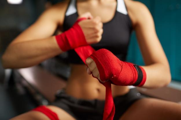 Sportive difficile, enveloppant les mains