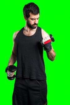 Sportman fait de l'haltérophilie