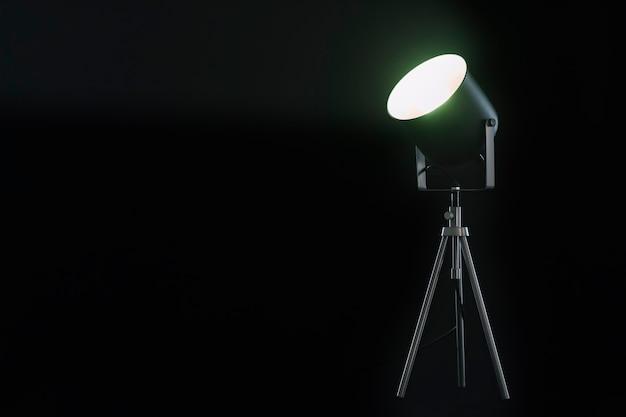Spotlight éclairant vers le haut