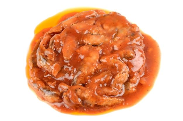 Sprats à la sauce tomate