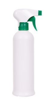 Spray désinfectant dans le flacon. isolé sur un espace blanc.