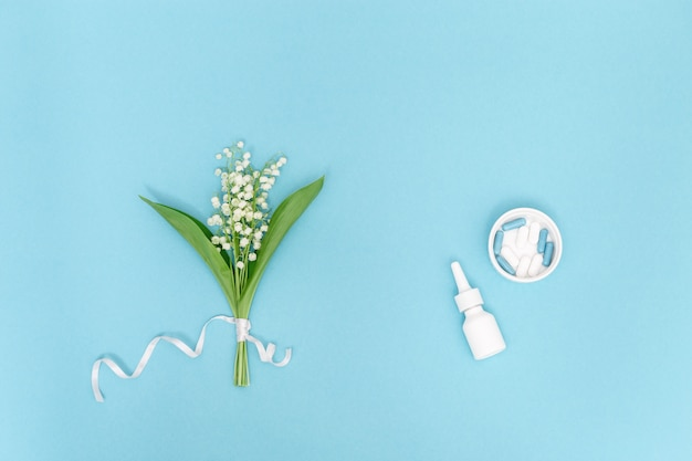 Spray nasal et comprimés contre les allergies au pollen des plantes à fleurs