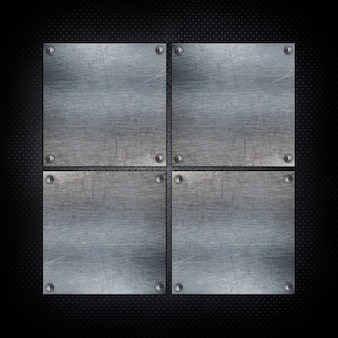 Squared formes métalliques fond