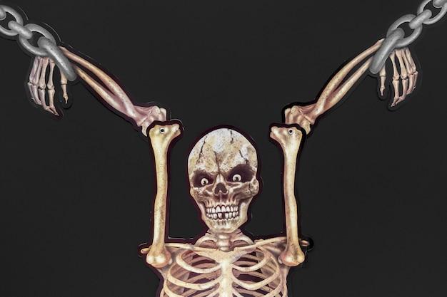 Squelette effrayant pour le concept d'halloween
