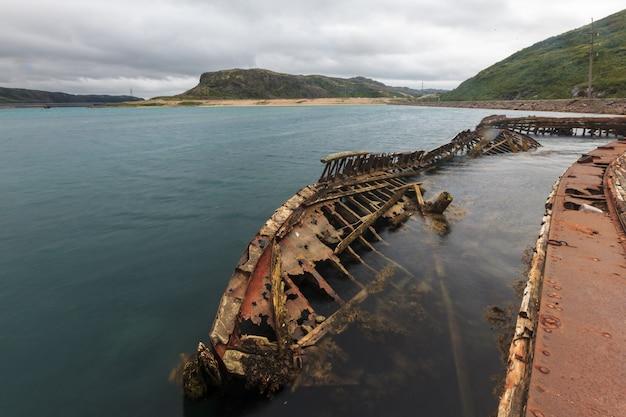 Squelette de navire à teriberka