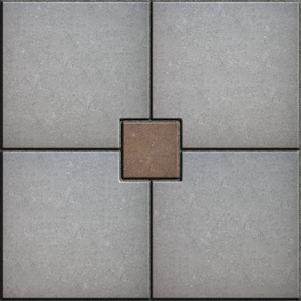 Squere pavé gris et marron. texture transparente