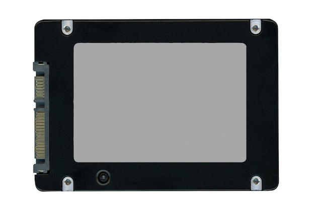Ssd solid state drive isolated over white