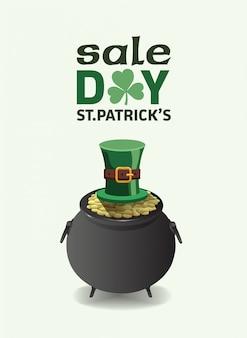 St patricks day vecteur de publicité de vente