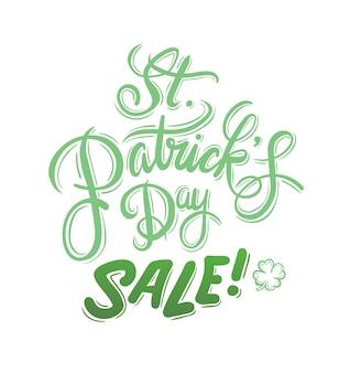 St patricks day vente vecteur de publicité