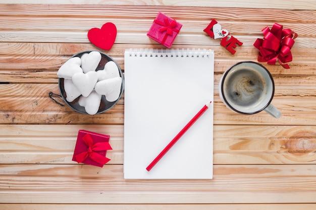 St valentin trucs autour de cahier