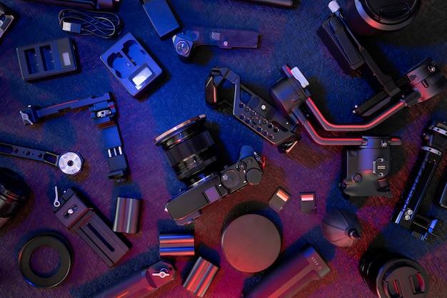 Stabilisateurs de cardan de poste de travail de photographe et accessoire de caméra