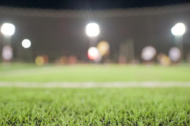 Stade de football, atmosphère à l'intérieur avec le stade
