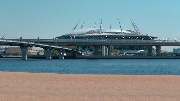 Stade de football gazprom arena à saint-pétersbourg
