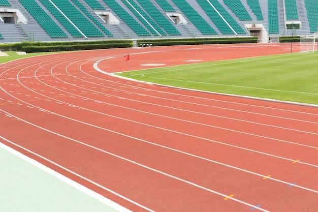 Stade sièges et piste de course