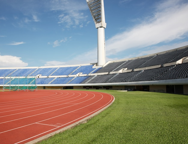 Stade vide pendant la journée