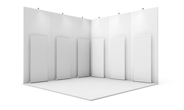 Stand d'exposition avec six rollups